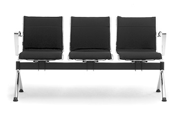 bench seating with upholstered seats Origami LX