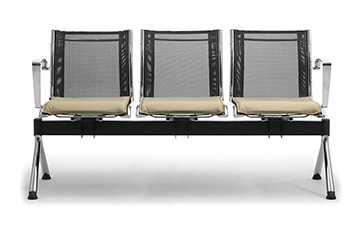 waiting room benches with mesh seating Origami-RX