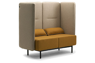 High back lounge sofas for office open space Around