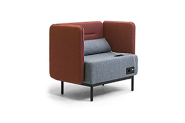 Modular sofas with usb charger for office open space Around