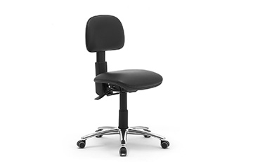 Upholstered swivel laboratory chair for industry and laboratory standards Dattilus