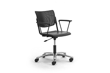 task office chairs with metal seat back LaMia