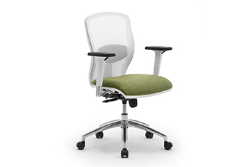 White or grey task office chairs with mesh Sprint Re