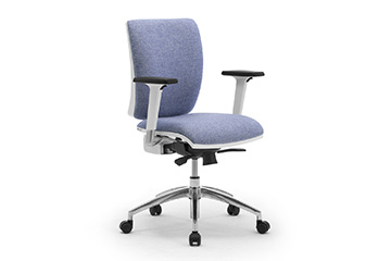 White or grey task office chairs with lumbar support Sprint