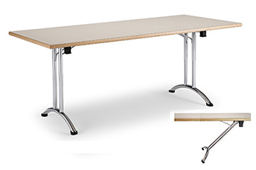 restaurant lunchroom stacking tables with folding legs Arno-4