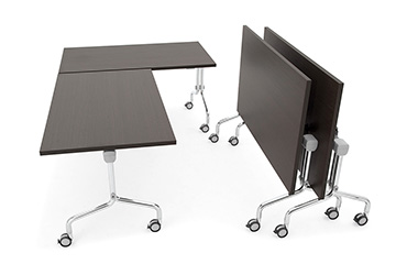 training nesting tables with folding top Arno-5
